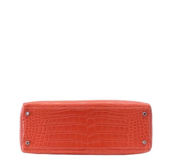Hermes Kelly 35 Alligator Sanguine New Bottom