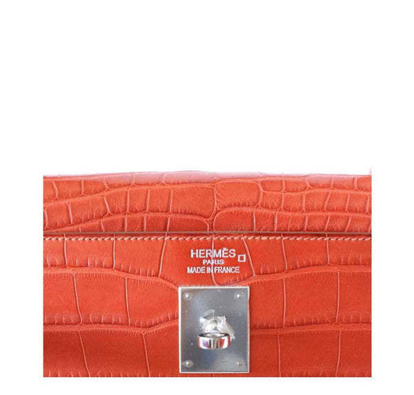 Hermes Kelly 35 Alligator Sanguine New Embossing