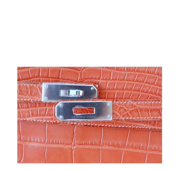 Hermes Kelly 35 Alligator Sanguine New Engraving