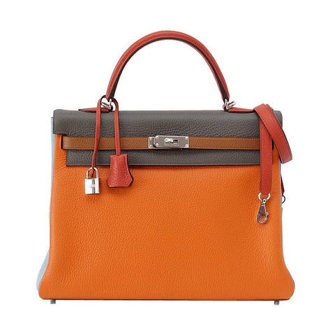 Hermes Kelly 35 Supple Arlequin Bag
