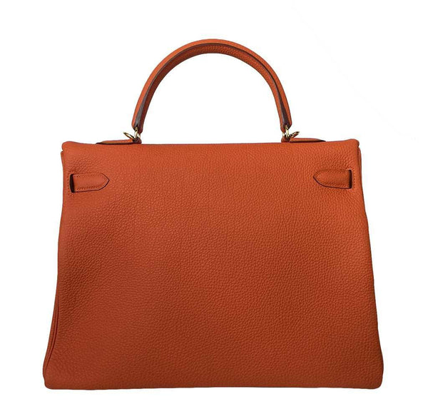 Hermes Kelly 35 Orange New Back