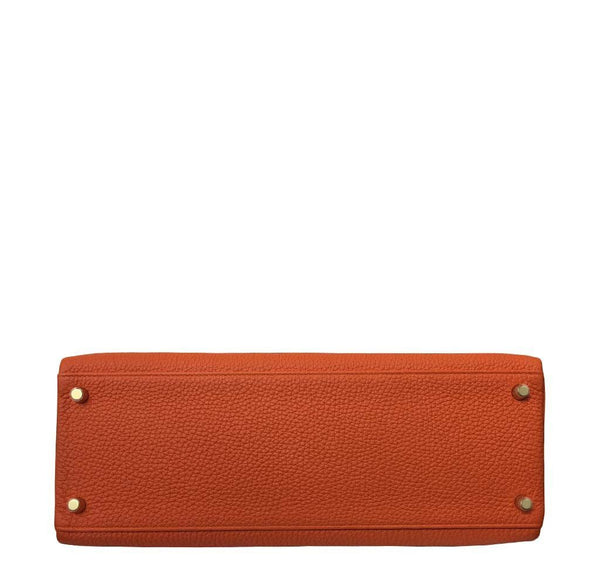 Hermes Kelly 35 Orange New Bottom