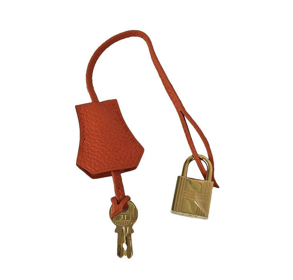 Hermes Kelly 35 Orange New Clochette
