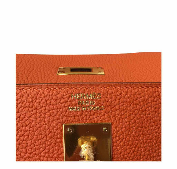 Hermes Kelly 35 Orange New Embossing