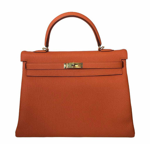 Hermes Kelly 35 Orange Bag