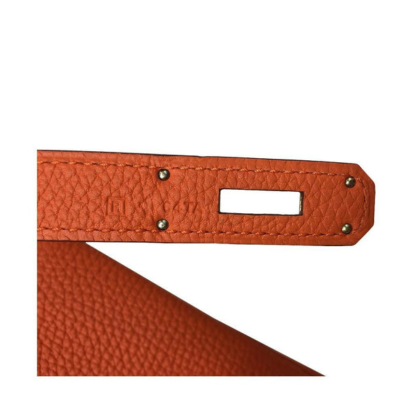 Hermes Kelly 35 Orange New Stamp