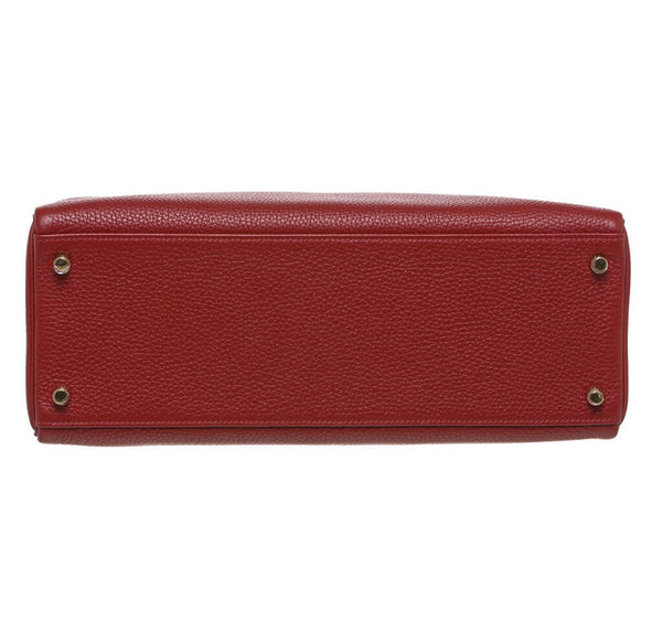 Hermes Kelly 35 Rouge H Used Bottom