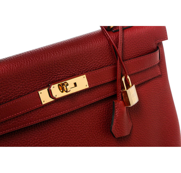 Hermes Kelly 35 Rouge H Used Detail