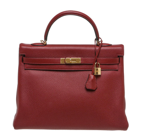 Hermes Kelly 35 Rouge H Bag