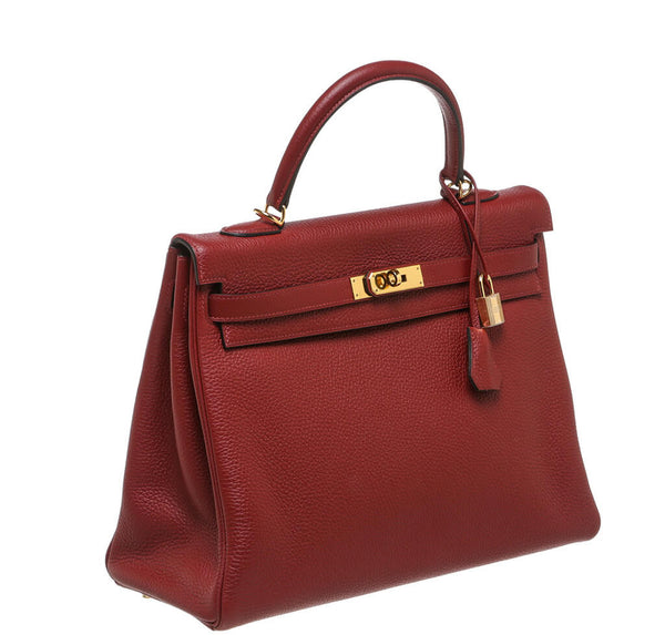 Hermes Kelly 35 Rouge H Used Side