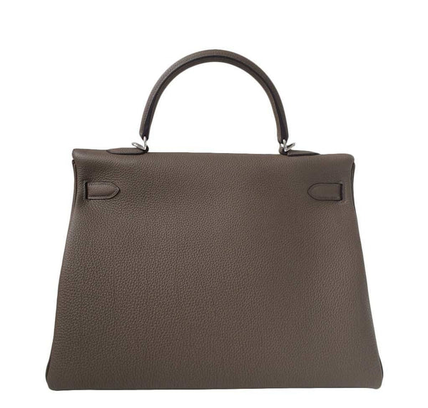 Hermes Kelly 35 Taupe New Back