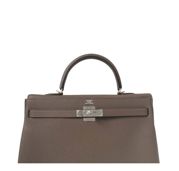 Hermes Kelly 35 Taupe New Embossing