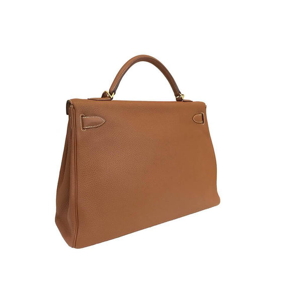 Hermes Kelly 40 Gold Used Back