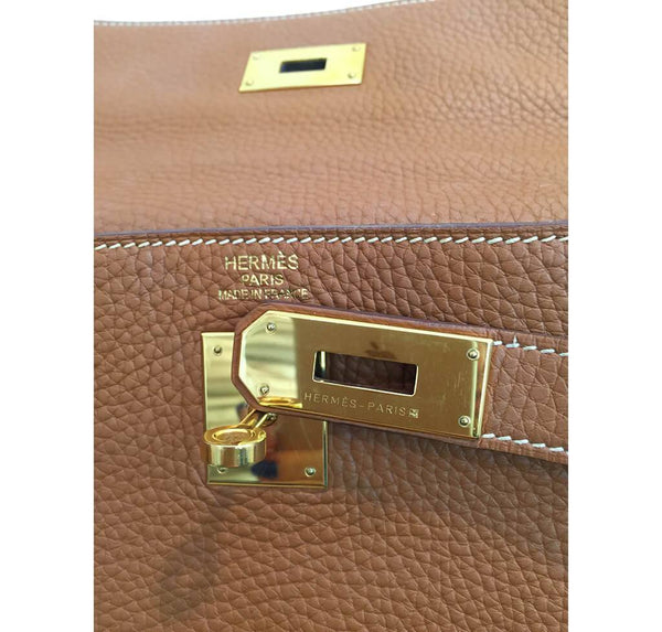Hermes Kelly 40 Gold Used Engraving