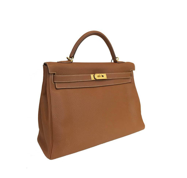 Hermes Kelly 40 Gold Used Side