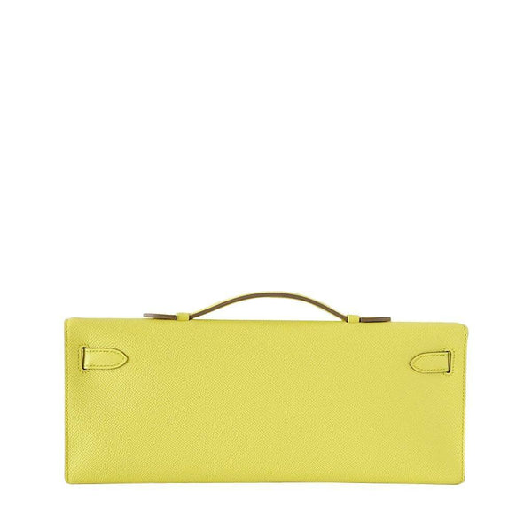 Hermes Kelly Cut Lime New Back