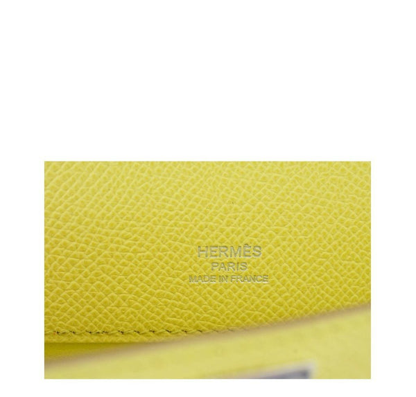 Hermes Kelly Cut Lime New Embossing