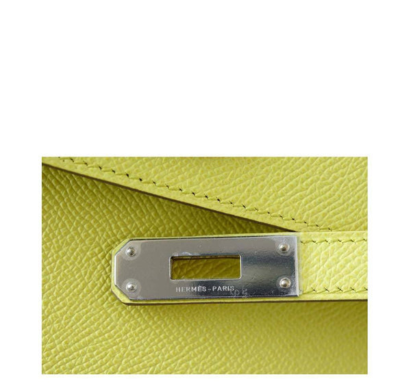 Hermes Kelly Cut Lime New Engraving