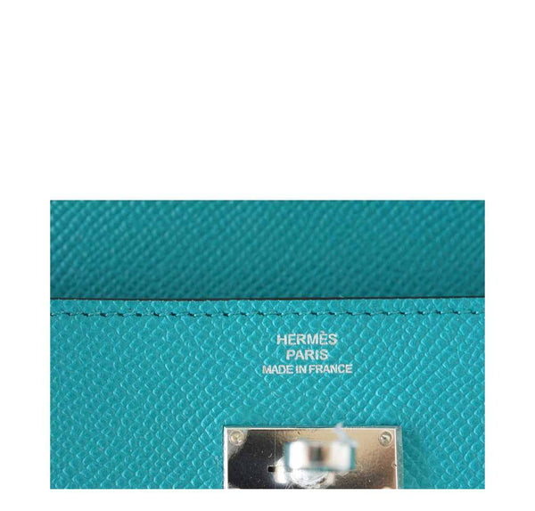 Hermes Kelly Long Wallet Clutch Paon New Embossing