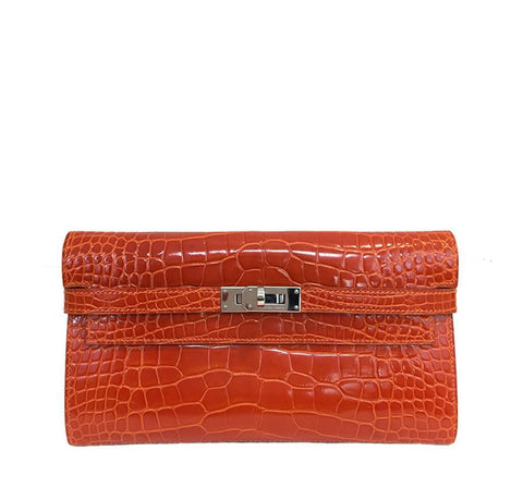 Hermes Kelly Long Wallet Alligator Bag