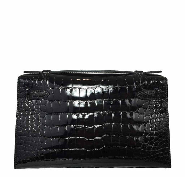 Hermes Kelly Mini Pochette Crocodile New Back