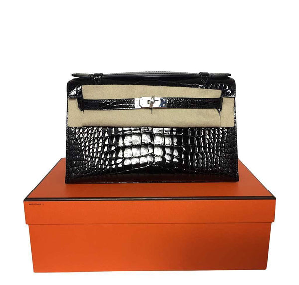Hermes Kelly Mini Pochette Crocodile New Box