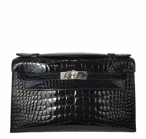 Hermes Kelly Mini Pochette Crocodile Bag