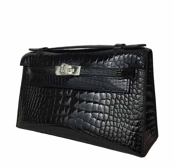 Hermes Kelly Mini Pochette Crocodile New Side