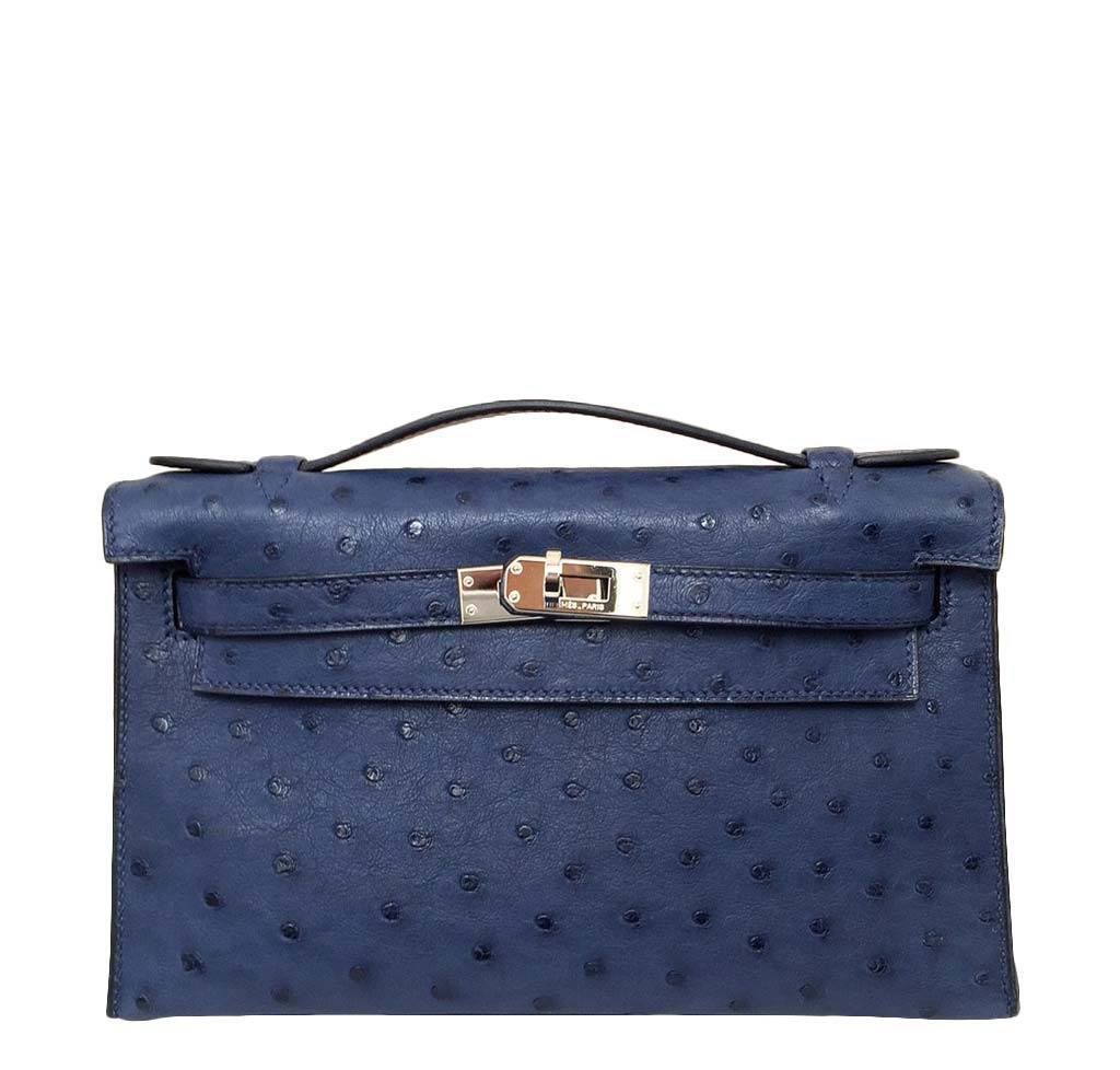 hermes kelly blue bags for sale