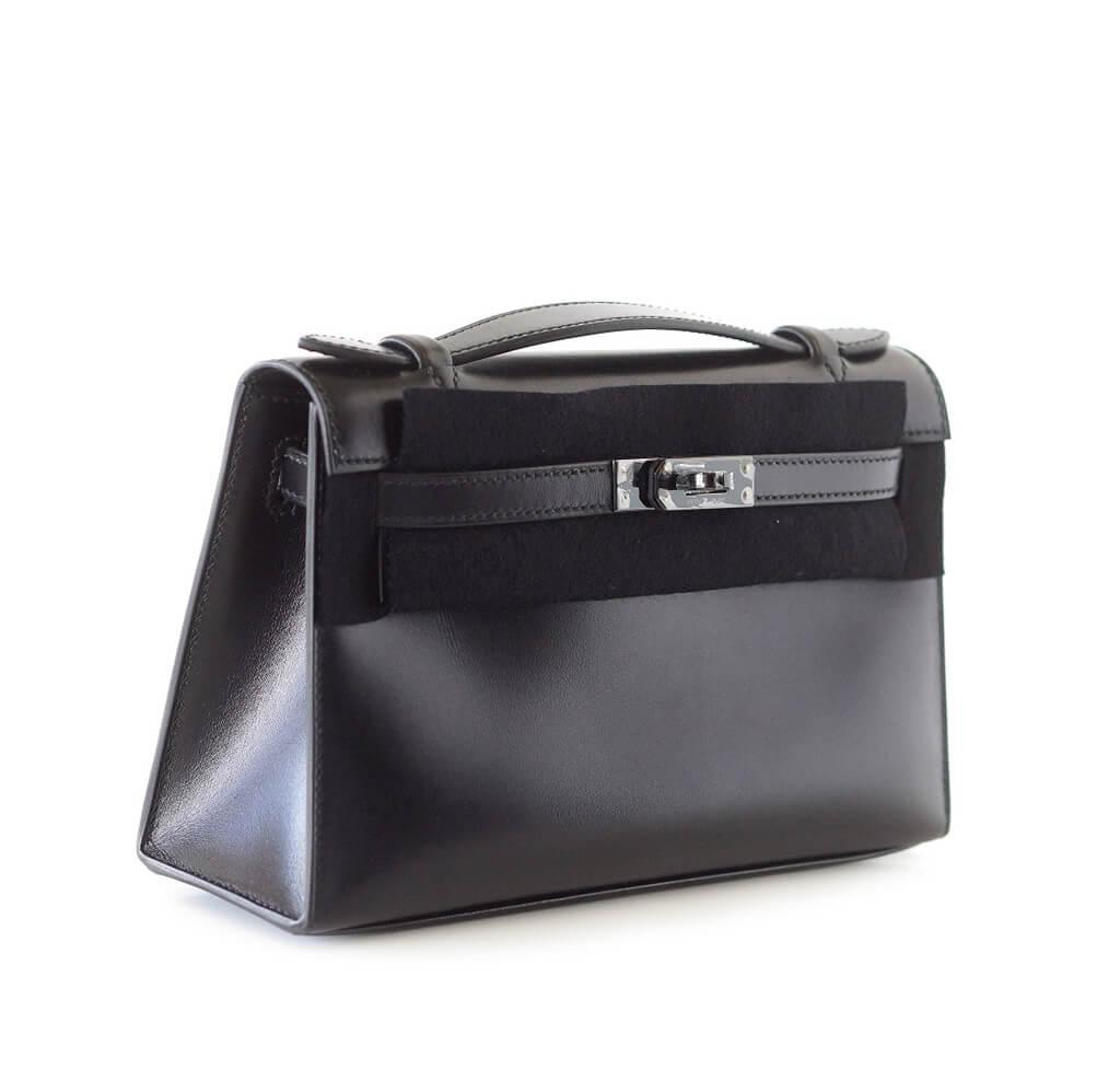 f28cac01ae9a Hermes Kelly Pochette Special Order Bag Hermes Kelly Pochette Special Order  Black New Side ...