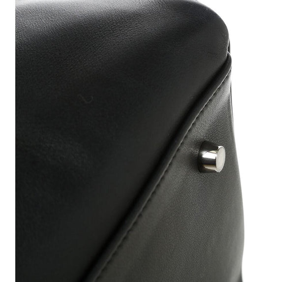 Hermes Kelly Relax Travel Black Used Corner