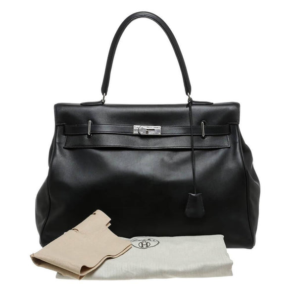 Hermes Kelly Relax Travel Black Used Overview