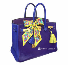 Hermes Special Order Iris Blue violet used open