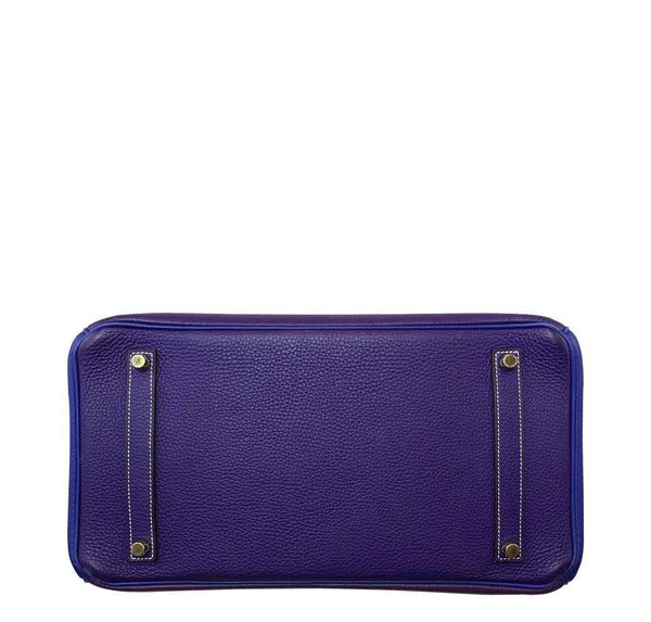 Hermes Special Order Iris Blue violet used bottom