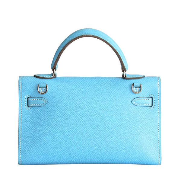 Hermes Tiny Kelly Blue New Back