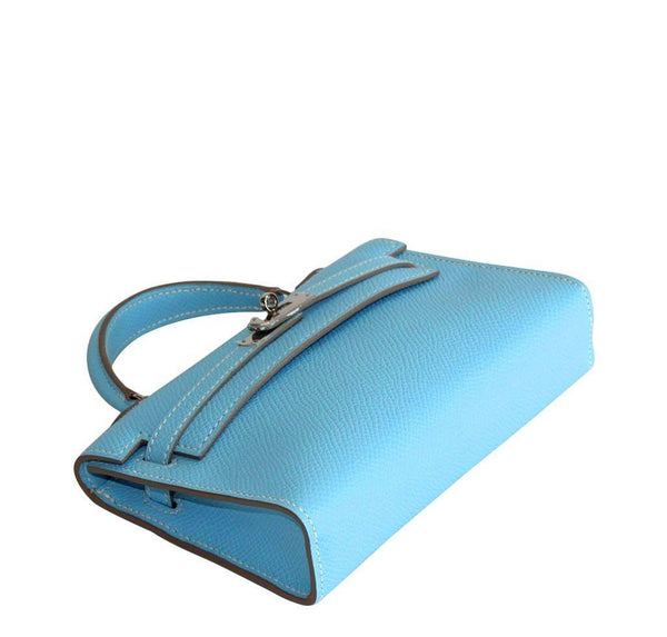 Hermes Tiny Kelly Blue New Bottom