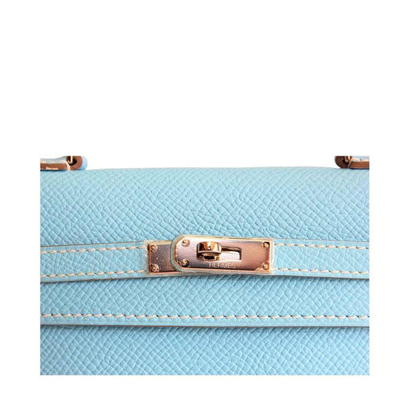 Hermes Tiny Kelly Blue New Detail