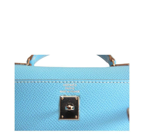 Hermes Tiny Kelly Blue New Embossing