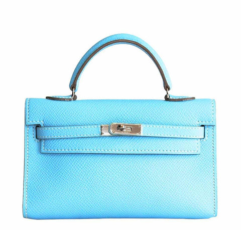Hermes Tiny Kelly Micro Mini Celeste