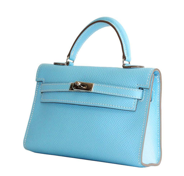 Hermes Tiny Kelly Blue New Side