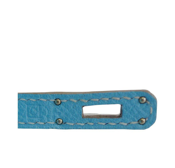 Hermes Tiny Kelly Blue New Stamp