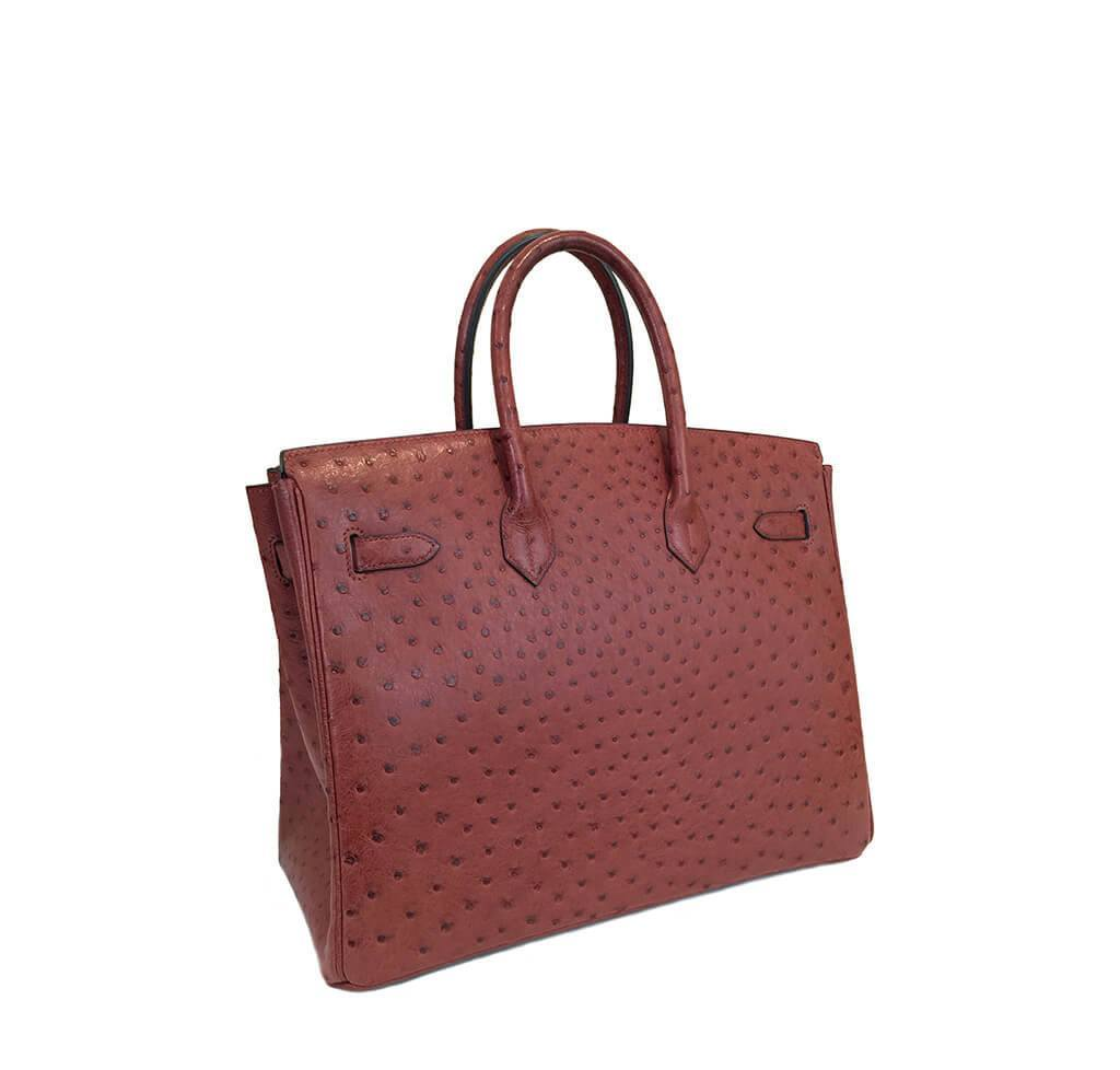 fb0119e6a17 ... Hermes Birkin 35 Ostrich Rouge H Used Back ...