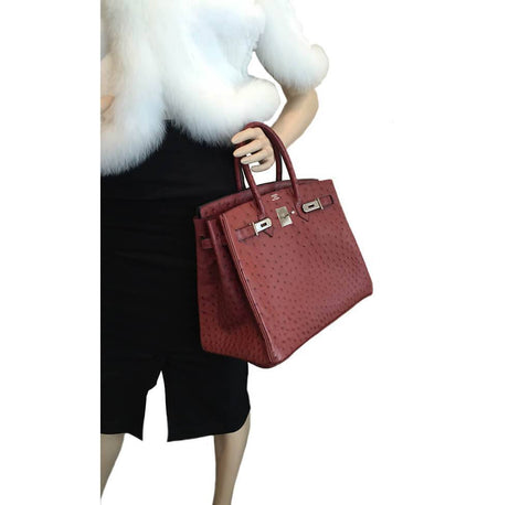 Hermes Birkin 35 Ostrich Rouge H Used Overview