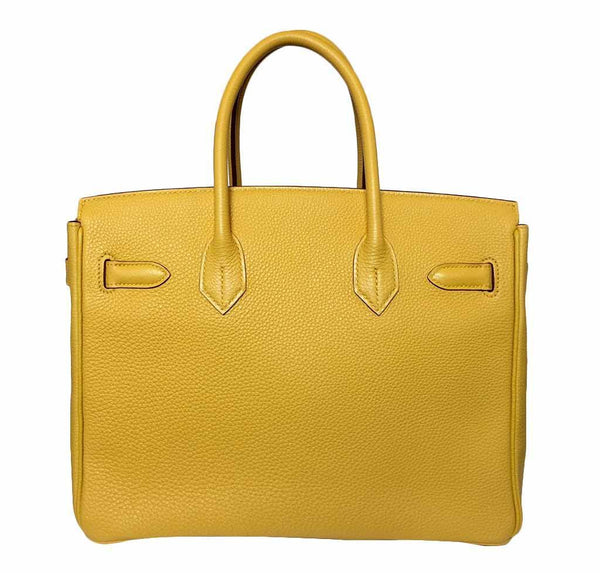 Hermes birkin Soleil yellow new back