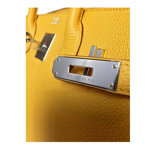Hermes birkin Soleil yellow new engraving