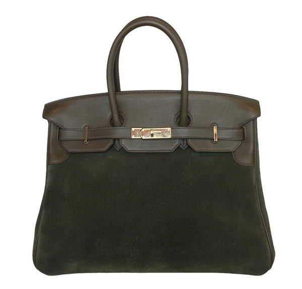 Hermes Birkin 35 Grizzly Bag