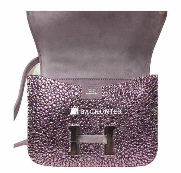 Hermes constance crystal lilas new open