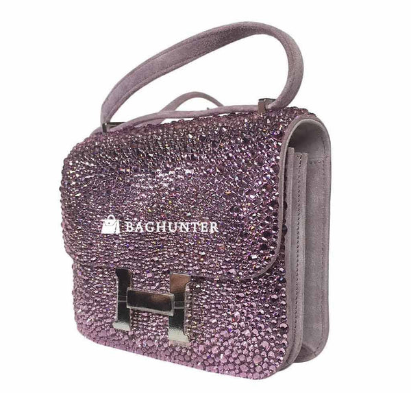 Hermes constance crystal lilas new side