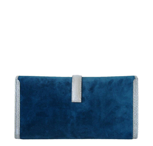 Hermes jige elan 29 blue suede lizard new back