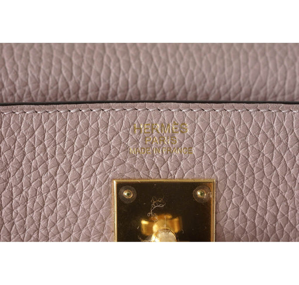 Hermes Kelly 32 Glycine New Embossing